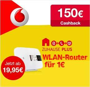 Qipu: Vodafone DSL Zuhause Paket M für nur 19,95€ / Monat + 150€ Cashback - effektiv 14,57€ pro Monat!
