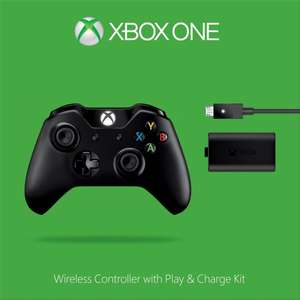 Xbox One Wireless Controller - Play & Charge Kit @ amazon