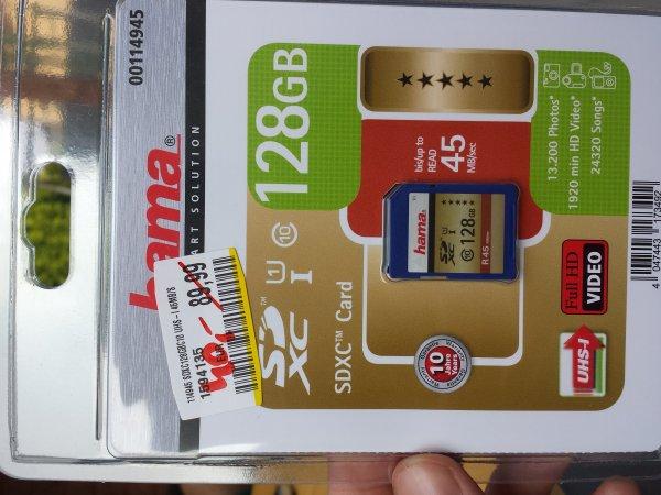 Media Markt Dortmund Indupark hama Speicherkarte 128GB SDXC CLASS 10 U1