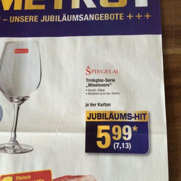 "Metro Trinkglas-Serie ""Winelovers"" Spiegelau 6er Karton"