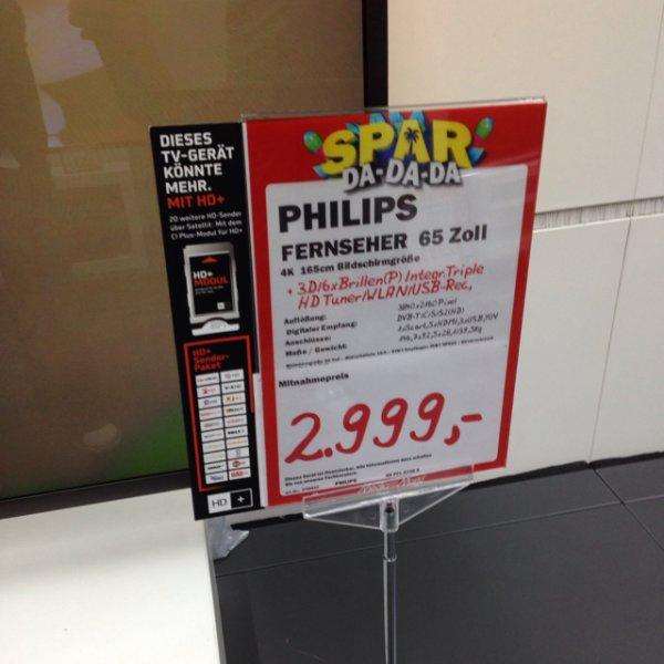 """[lokal Dresden Media Markt?] Phillips 65PFL 9708 S 65"""" UHD 2999"""
