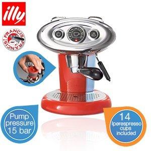 illy Francis Francis X7.1 Rot - Retro Espressomaschine + 14 MIE illy Kapseln für 139 Euro @iBOOD