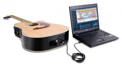 Jammin Pro USB Acoustic Gitarre mit 4 Band EQ Preamp, USB Kabel, Halsstabschlüssel und mit Aufnahme-Software