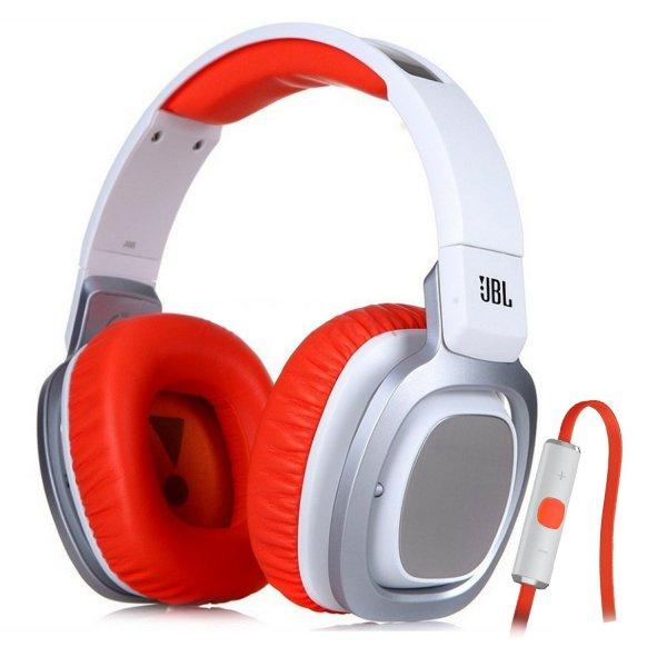 JBL J 88i Over-Ear DJ-Kopfhörer mit iPhone Steuerung weiß/orange für 40,23€ inkl. Versand @ Amazon.fr