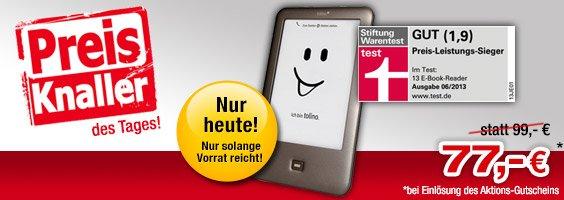 Tolino Shine für 77€ bei Buecher.de