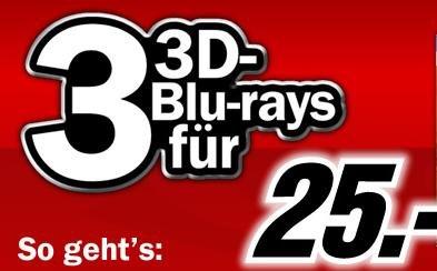 3x (3D) Blu-Rays für 25€ @MediaMarkt / Amazon