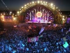 Haltestelle Woodstock in Kostrzyn (Pl)