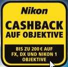 Nikon Cashback für Objektive - Bis 31. Juli 2014 (Format FX,DX,1Nikkor)