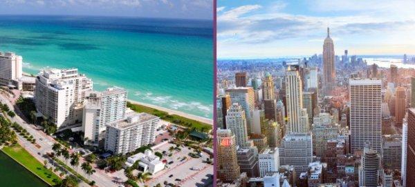 Oslo -> New York und Rückflug von Miami -> Düsseldorf für 220€