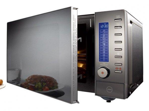 SILVERCREST® Edelstahl-Mikrowelle (lokal) (lidl)