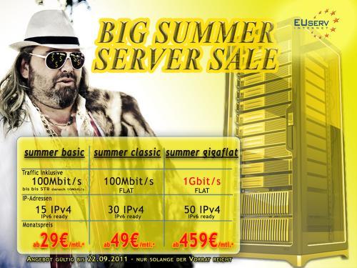Dedizierte Server ab 29€ - 3 Hardwarekonfigs - bis 50 IPs - Gigabitflat