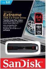 SANDISK Extreme® SDCZ80-064G-X46 64 GB USB 3.0 Flash-Laufwerk