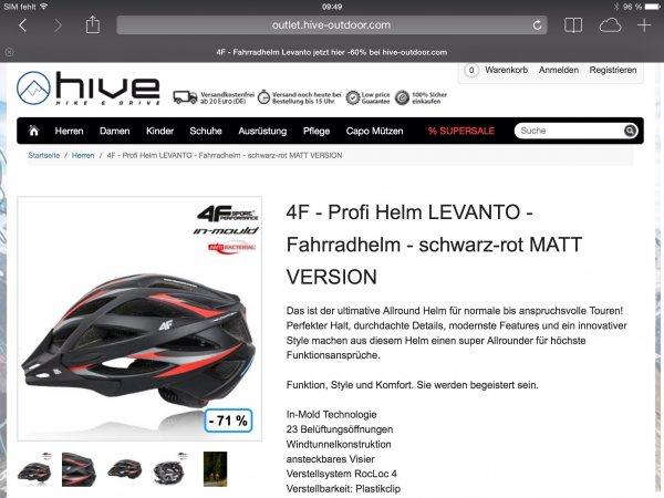 4F Profi Mountainbike Helm Levanto Schwarz - Rot Matt