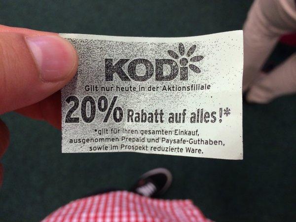 Kodi [lokal, Bochum] 10/20% auf den gesamten Einkauf