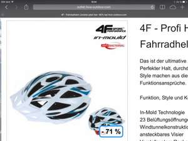 4F Profi Mountainbike Helm Blau - Weiß