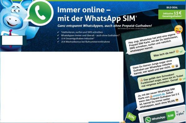 Immer online – mit der WhatsApp SIM