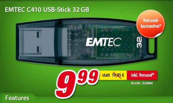 voelkner - USB-Stick 32 GB Emtec C410 ECMMD32GC410 USB 2.0 - Versandkostenfrei !