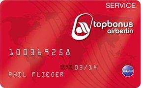 Air Berlin Service Card für 99,-€ statt 119,-€ bis zum 17.08.14