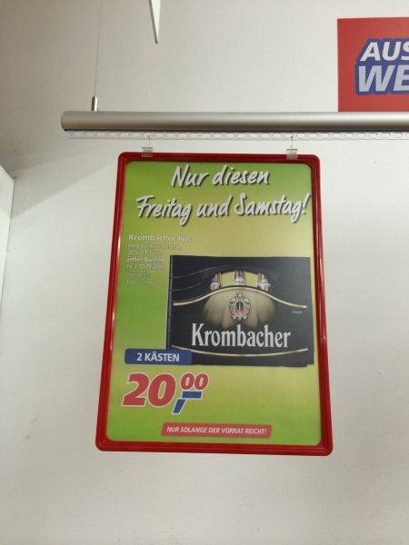 [REAL] 2 Kisten Krombacher 0,5l für EUR 20 nur heute und morgen (statt EUR 27,98)