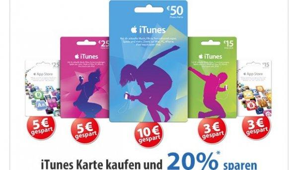 [MÜLLER] 20% auf iTunes / AppStore Guthaben !NUR HEUTE!