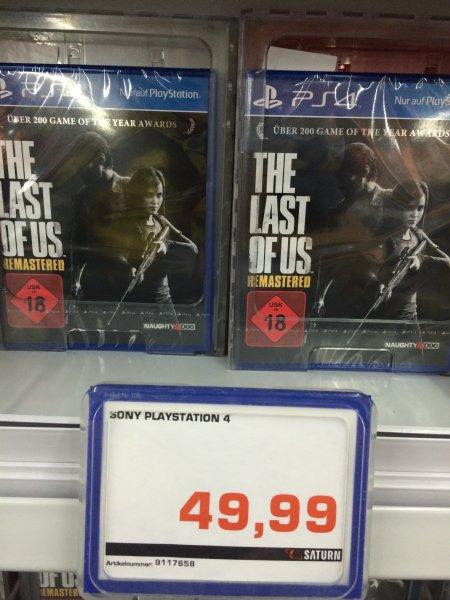 Last of Us Remastered PS4 (Saturn Spandau - eventuell nur lokal)