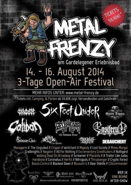 Festival für Metaler: Metal Frenzy Tickets noch zum VKK