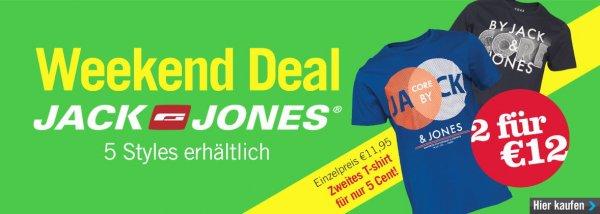 [mandmdirect.de] Jack and Jones T-Shirts 2 für 12€ Aktion (+4,99€ VSK, ab 30€ VSK frei)