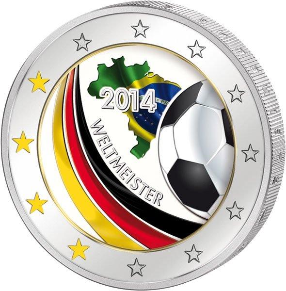 2 Euro Münze Weltmeister