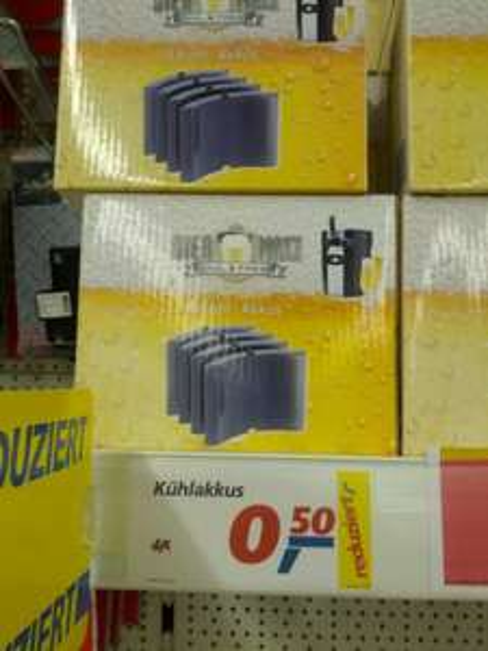 [Lokal Real Haßloch] Kühlakkus für Biermaxx , 4 Stück 0,50€