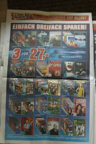 [Lokal? Saturn Köln] 3 DVD Staffeln für 27,- EUR ... und andere Angebote