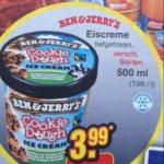 Ben & Jerry Eiscreme 500 ml bei Netto (ohne Hund) - nur am 09.08.2014