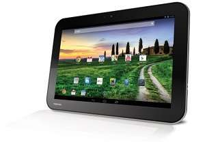 Toshiba AT10-A-104 25,7 cm (10,1 Zoll) eXcite Pure Tablet-PC (NVIDIA Tegra T30L, 1,2GHz, 1GB RAM, 16GB eMMC, Android OS) silber/schwarz für 149,00€ @ Amazon.de