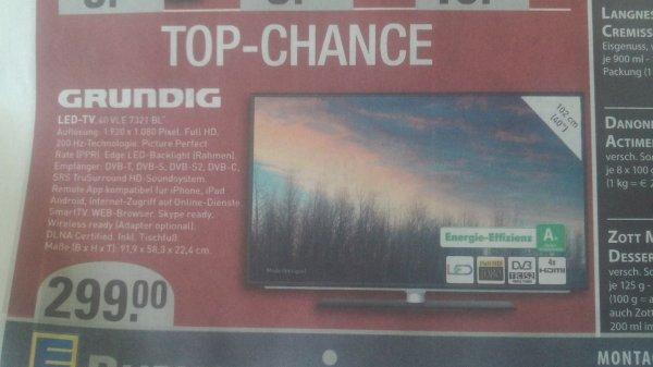 [Lokal Bochum Edeka Burkowski] LED-TV Grundig 40VLE7321 BL, Triple Tuner, FullHD, A+
