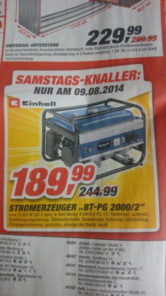 TOOM Samstags-Knaller 09.08.14 Einhell Stromerzeuger BT-PG 2000/2 (max.2200 W)
