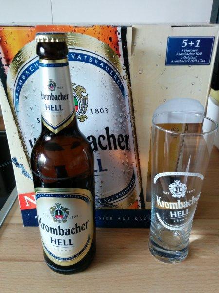 [Lokal: 36381 Schlüchtern] Krombacher Hell 5+1 Glas