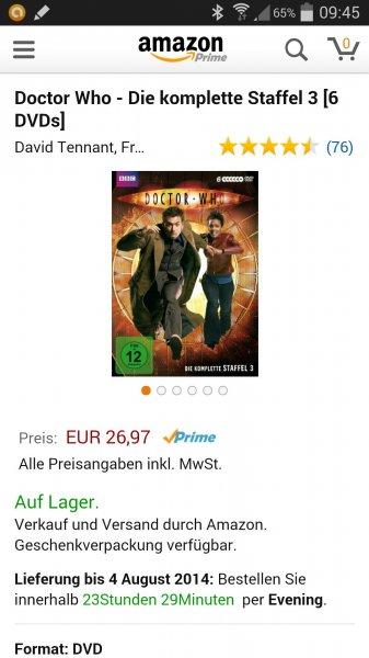 Doctor Who Staffel 3 u. 4 je 27€