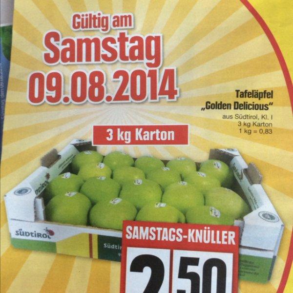 "[Lokal Edeka] 3kg Tafeläpfel Klasse I ""Golden Delicious"" für 2.50€"