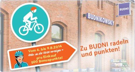 500 Budni Karte Bonuspunkte für Radfahrer @Budnikowsky