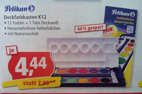 Pelikan Deckfarbkasten K12 - 12 Farben + Deckweiß bei Pfennigpfeiffer