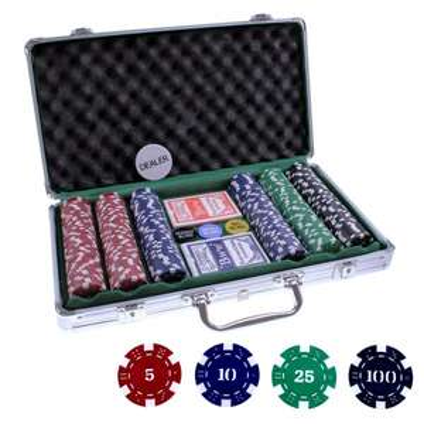 Pokerkoffer (Alu) inkl. 300 Chips für 13€