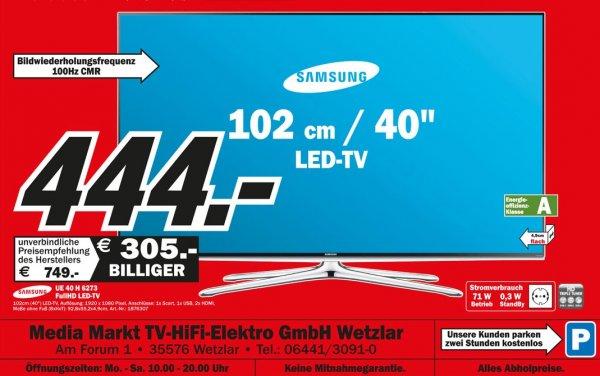 Samsung UE40H6273 für 444€ lokal (mediamarkt wetzlar)