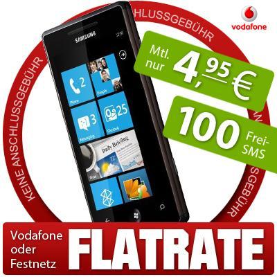 WindowsPhone7 Samsung Omnia 7 für 1€ und mtl. 4,95€ Grundgebühr für JungeLeute/D2