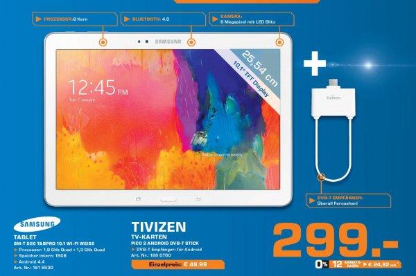 Samsung TabPro 10.1 WiFi 16GB weiß inkl. Tivizen DVB-T Emfänger