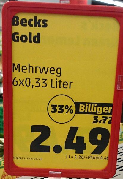 [Lokal Essen Kray] Becks Gold Six Pack für 2,49€