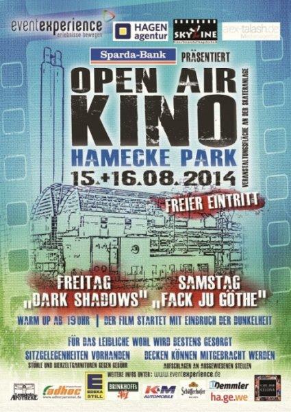 "[LOKAL Hagen] FREIER EINTRITT Sommerkino im Hamecke-Park am 15.+16.08. ""Dark Shadows"" + ""Fack ju Göhte"""