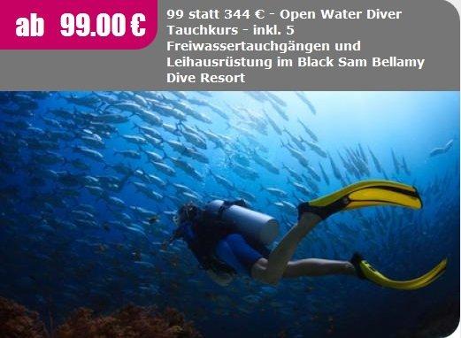 Tauchkurs 99€ statt 344€ [Freiburg im Brsg.]
