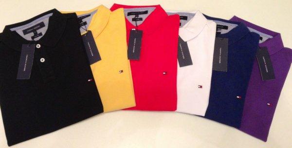 Tommy Hilfiger Slim Fit Polo Shirt - 3 Stück für 95,- € (31,67 € pro Stück) bei hirmer.de