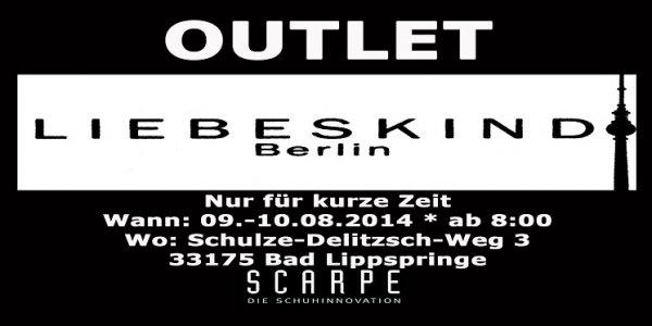 LIEBESKIND BERLIN Outlet (LOKAL) in Bad Lippspringe, nur am 09.08. + 10.08.2014 ab 8 Uhr
