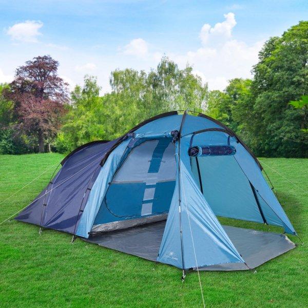 Großraum Zelt 4 Personen 450x270x185cm TÜV Gruppenzelt Familienzelt Campingzelt statt EUR 90 @ebay.de