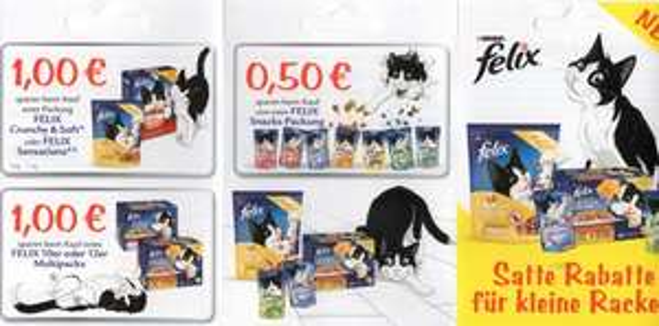 Felix Katzenfutter bei Müller  satte Rabatte für kleine Katzen !